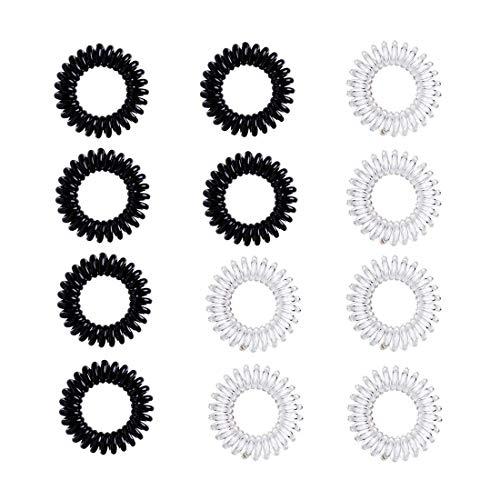 Telefonkabel haargummi elastisch hochwertige Spiral Haargummis, Original Kunststoff Haarband für Damen und Mädchen Dicke und Lockiges Haar