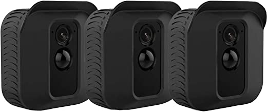 Amokey Silicone Skin Case for Blink XT2/XT Camera - [3 Pack] Soft Silicone UV Weather Resistant Protective and Camouflaged Case Cover for Blink XT2 / XT Home Security Indoor Outdoor Camera, (Black)