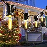 Guirnalda Luces Exterior Solares,VIFLYKOO Cadena de Luces 25 LED bombillas guirnalda luminosas impermeable IP44,utilizada para jardín terraza árbol patio decoración de fiestas en el hogar-7.6M
