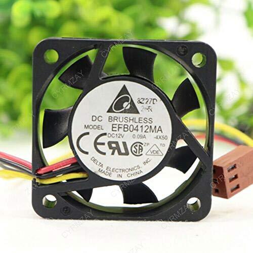 CYRMZAY Compatible para Delta EFB0412MA 4CM 40 * 40 * 10MM 12V 0.09A 3Pin Ventilador
