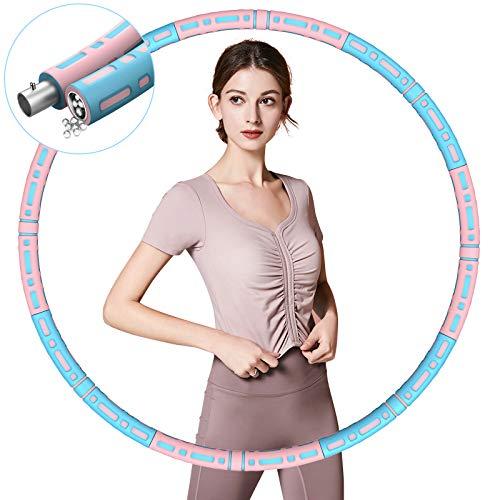TvvaaFog Hula Reifen Hoop für Erwachsene & Kinder,8 Segmente Abnehmbarer[2021 Upgrades] Stabiler Edelstahlkern Hoop zur Gewichtsreduktion und Massage