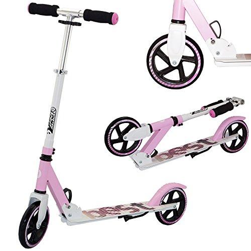 Best Sport Mädchen Scooter Mit Abec-7 Scooter, weiß/pink, M, 2307278