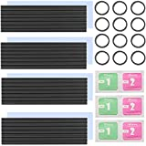 4Pack M.2 Heatsinks for PCIE NVME and SATA, Aluminum NVMe Heatsink Cooler with Nano Silicone Thermal Pad, m.2 SSD Heatsink for DIY Laptop PC Memory Cooling Fin Radiation Dissipate