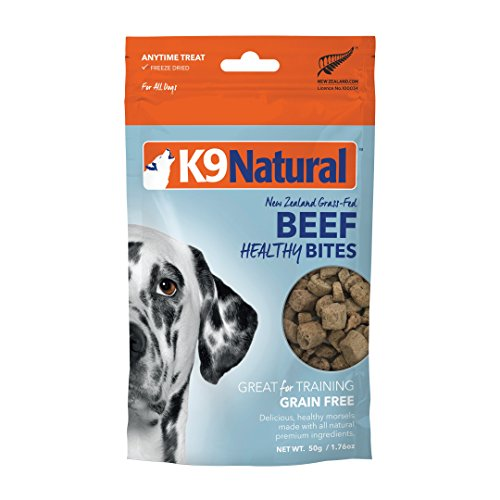 K9 Natural Grain-Free Freeze Dried Dog Treats, Beef Bites 1.76oz