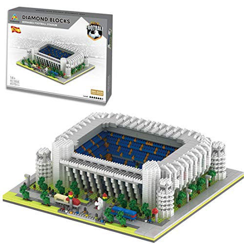 HZYM Arquitectura de campo de fútbol, 4575 piezas Nano Mini Blocks España Real Madrid Estadio de Fútbol Kit Arquitectura Modelo Arquitectura Modelo Arquitectura No Compatible con Lego