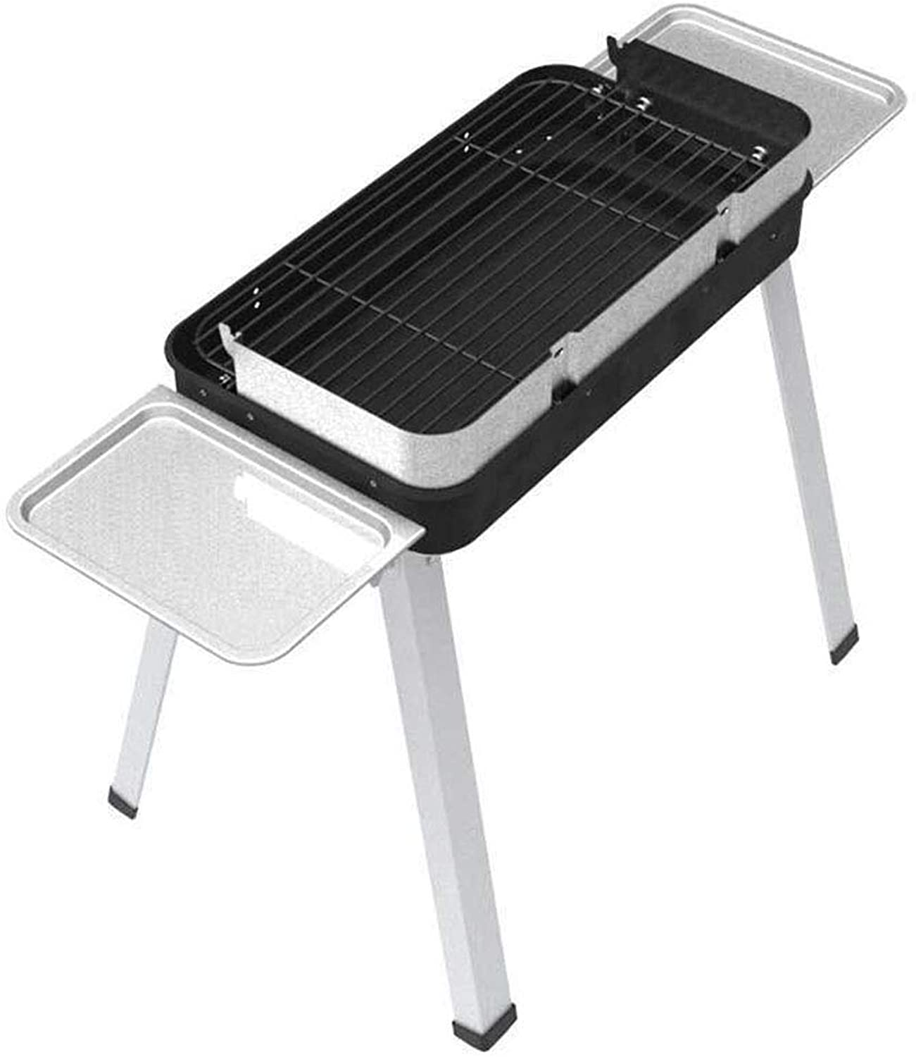 Outdoor Grill Oven Charcoal 45 Persons Stainless Steel Portable Detachable Leg Stand MultiFunction Tools Family Friends Field Camping Picnic Garden Party Fishing Garden