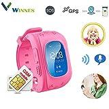Reloj Inteligente niño, Telefono Reloj Inteligente niña Smart Watch Phone LBS/GPS localizador SOS...