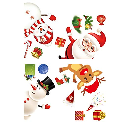 Hlyp Engomada de Santa, Regalo de la decoración de Navidad Etiqueta, Fiesta de cumpleaños de la decoración de Navidad, Diario de papelería Etiqueta