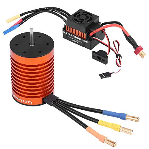 Zouminy Rcharlance F540 3000KV Brushless Waterproof Motor 45A Brushless ESC RC Combo for 1/10 RC Car