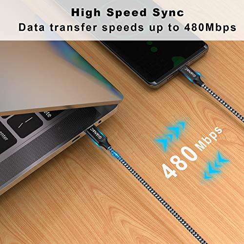 GIANAC USB C auf USB C Kabel,[3-Pack/0.5M+1M+2M] 20V/3A USB Typ C PD 60W Ladekabel für MacBook, Huawei P30/P20, Google Pixel 3a/3a XL, iPad Pro 2020/2018, Galaxy S10/S9,Dell XPS 15 und Mehr
