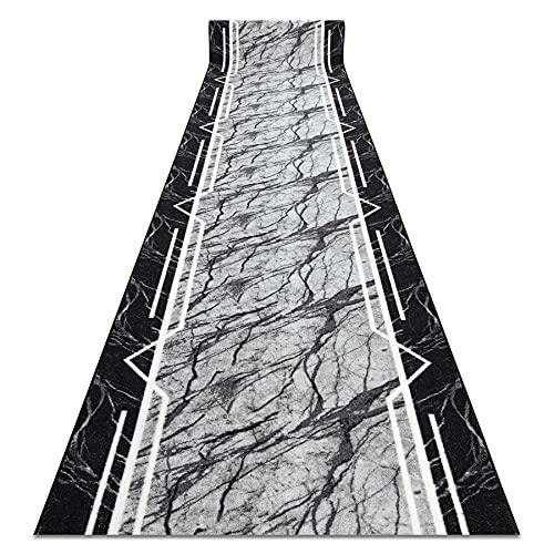 Passatoia Corridoio, MARMUR Marmo, antiscivolo, per cucina, corridoio, soggiorno, robusto, moderno, grigio 133x190 cm