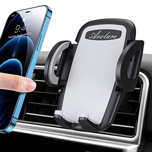 Avolare Handyhalterung Auto, Handyhalter fürs Auto KFZ 2021 Upgrade Handyhalterung Lüftung Smartphone Halterung kompatibel mit iPhone 12/12 Pro/11/11 Pro/Xs/Xr/X/8/7, Samsung s10/s9/s8, Huawei(Grau)