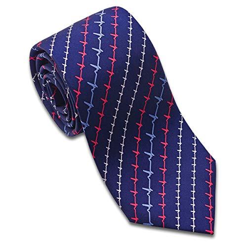 Silk Heartbeat Pattern EKG Tie