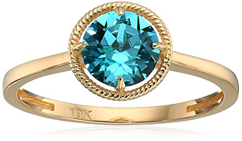 10k Gold Swarovski Crystal December Birthstone Ring, Size 6