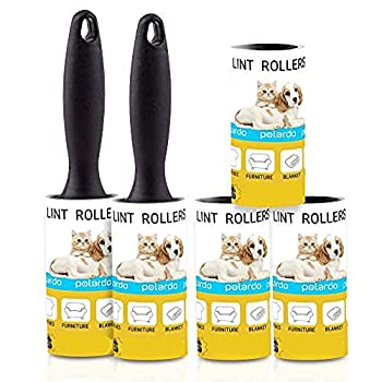 Lint Rollers for Pet Hair Sticky Remover for Couch Clothes Furniture and Carpet Lint Roller Dog Hair Remover Cat Hair Animal Hair Pet Fur Fuzz 5 Large Pet Hair Lint Rollers