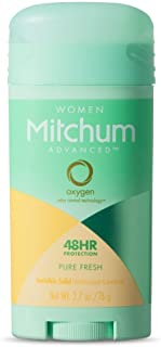 Mitchum For Women Advanced Control Anti-Perspirant Deodorant Invisible Solid Pure Fresh 2.70 oz (Pack of 4)