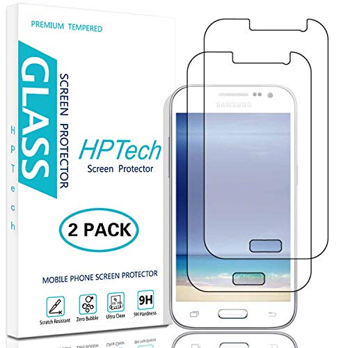 HPTech Galaxy Core Prime G360 Screen Protector - (2-Pack) Tempered Glass for Samsung Galaxy Core Prime G360 Screen Protector Bubble Free