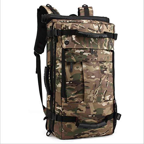 40L Licht Bergsteigen mit Passwortsperre Wasserdicht und reißfest Camping Tasche Atmungsaktiv Wandertasche Angeltasche Geeignet für Männer und Frauen,Natural