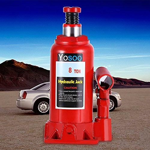 Hydraulische krik, fles, olie, voor auto, motorfiets 2T/3T/5T/6T/8T, 8T, 50