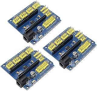 ZHITING 3 Piezas Módulo Protector de Sensor de expansión Nano I/O para Arduino R3 Nano V3.0 / Nano Pro Compatible R1 Duemi...