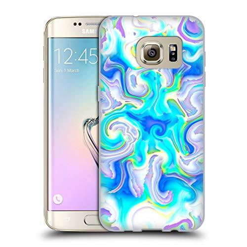 Head Case Designs Oficial Haroulita Acuático Mármol Líquido Carcasa de Gel de Silicona Compatible con Samsung Galaxy S7 Edge