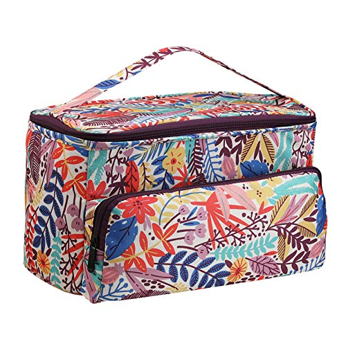 F Fityle Travel Knitting Tote Bag, Yarn Storage Bag for Carrying Projects, Knitting Needles, Crochet Hooks and Sewing Tool Other Accessories