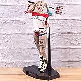 XFHJDM-WJ Estatuilla Hot Toys Suicide Squad Harley Quinn Figura PVC Figura de acción Harley Quinn muñeca Modelo Coleccionable Juguete Regalo de cumpleaños-0301