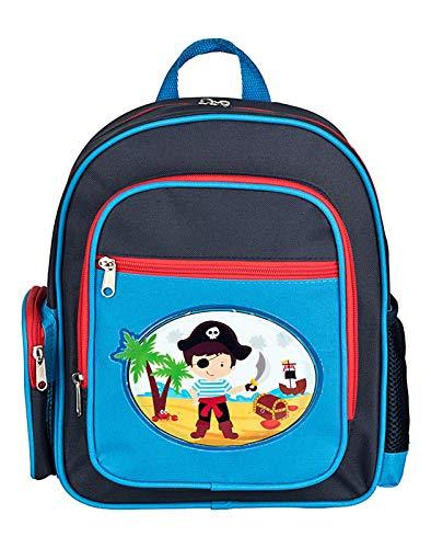 STEFANO Kinder Reisegepäck Waschtasche Turnbeutel Reisetasche Rucksack Trolley oder als Set (M2 Pirat Rucksack)