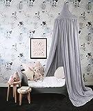 Baby Baldachin Betthimmel Kinder Babys Bett Baumwolle Hängende Moskiton für Schlafzimmer Ankleidezimmer Spiel Lesen Zeit Höhe 240 cm Saumlänge 270cm