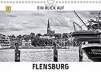 Ein Blick auf Flensburg (Wandkalender 2022 DIN A4 quer): Ein ungewohnter Blick in harten Schwarz-Weiss-Bildern auf die Stadt Flensburg in Schleswig-Hollstein. (Monatskalender, 14 Seiten )
