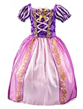 Eleasica Niña Princesa Rapunzel Vestido de Disfraz Niños Vestido de Princesa Cumpleaños Regalo Navidad Halloween Cosplay para Carnaval Barato Parte Ceremonia Morado 3-8 Años