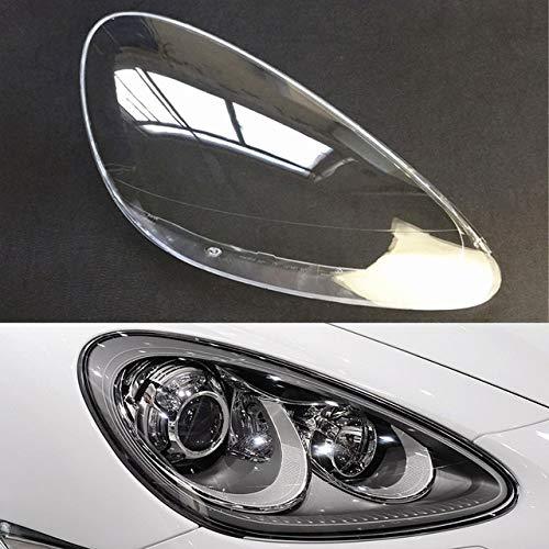 Qgg Auto-Scheinwerfer Lampshade Auto-Scheinwerfer-Objektiv Fit for Porsche Cayenne 2011 2012 2013 2014 Auto-Ersatzscheibe Auto Shell Cover FF Scheinwerferabdeckung (Color : Passenger Side)