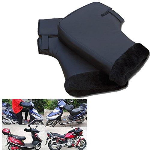 Guantes de moto invierno gruesa manillar protector Impermeable impermeable a prueba de viento caliente gran boca para moto scooter (color de piel al azar)