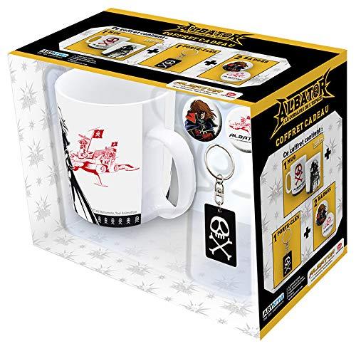 ABYstyle - Harlock - Caja de regalo - taza + llaer + pins logo