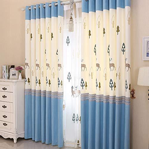 QWEA Verdunkelungsvorhang mit Bildern von Hirschen,geeignet für Babyzimmer,Schlafzimmer,Küche,Wohnzimmer Vorhang Vorhang Bleistiftfalten,Sieht aus wie EIN Traum,(150 x 270 cm,mehr Größen)