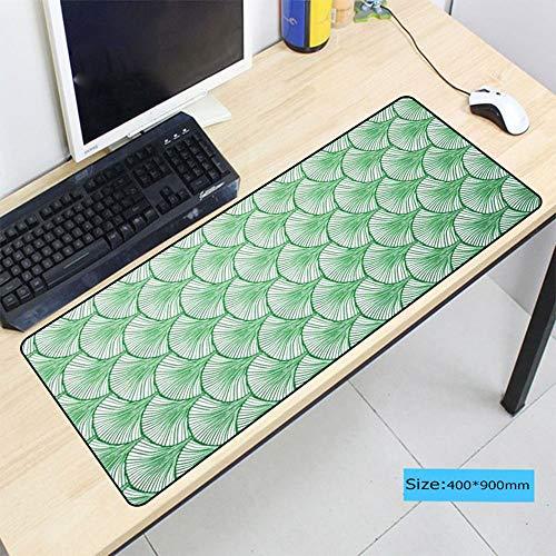 HonGHUAHUI Green plant toetsenbord grote rasterrand tafel laptop gaming muismat voor spelers, 250X290X2MM A01.