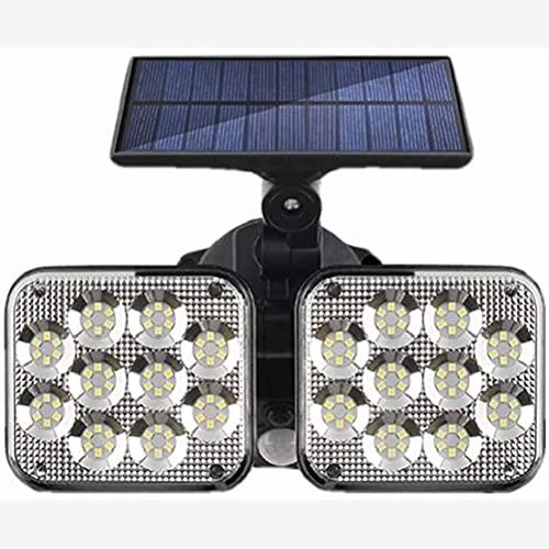 Luz de pared solar al aire libre, luz de pared con sensor de movimiento de 120 LED, luz nocturna impermeable de 3 modos para camino al aire libre, jardín