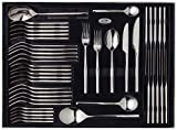 Stellar Rochester BL58 Stainless Steel Cutlery 44-Piece Set for 6 Place Settings with 2 Serving Spoons, Lifetime Guarantee