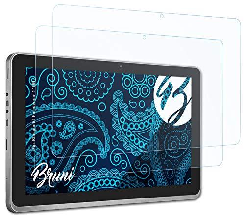 Bruni Schutzfolie kompatibel mit Blaupunkt Endeavour 1100 Folie, glasklare Bildschirmschutzfolie (2X)