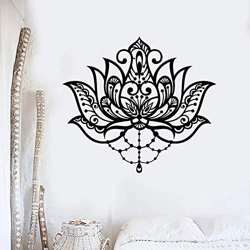 Decoración de flores calcomanías de pared sala de meditación estudio de yoga decoración de interiores puertas y ventanas pegatinas de vinilo hermosos fondos de pantalla