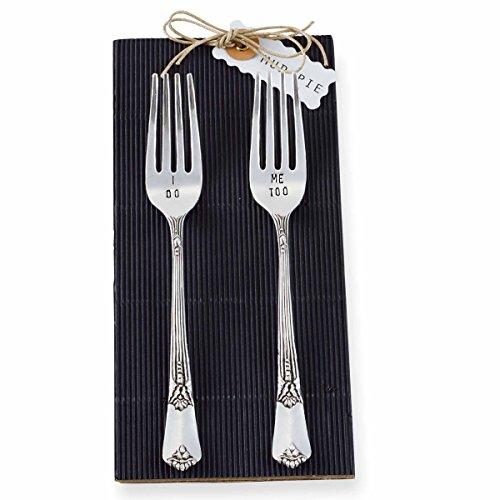 Mud Pie Wedding Fork Set, Silver
