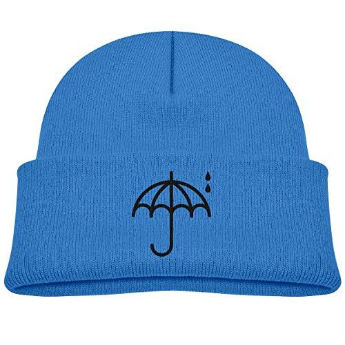 VTXINS Mode grappige Bring Me Paraplu Kid Gebreide Beanies Hoed Jongens Meisjes Winter Hoed Gebreide Schedel Cap Grijs
