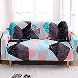 WXQY Funda de sofá elástica con Forma geométrica para Sala de Estar, Funda para sillón para Mascotas, Funda elástica para sofá de Esquina en Forma de L, combinación A24 de 3 plazas