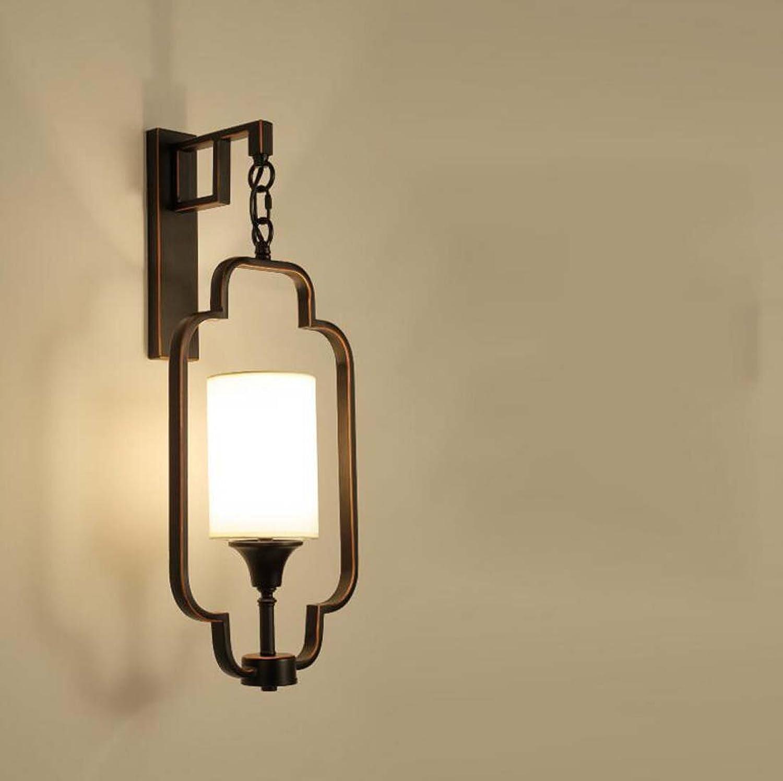 LED-Wandleuchte, antike Eisen Wandleuchte, moderne einfache Nacht Hotel Restaurant Schlafzimmer Wandleuchte Lnge 22  Breite 26,5  Hhe 62cm (Farbe   Schwarz)