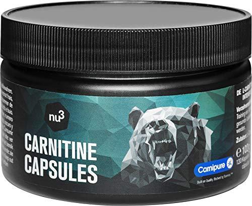 L-Carnitina 120 capsule - Potente integratore per bruciare i grassi - Aminoacido essenziale - Carnitina pura in concentrazione 1000 mg - Migliora la definizione e la resistenza - nu3