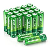 Fufly Rechargeable AA Batteries 20 Pack - 1.2V 2800mAh Ni-MH AA Battery Long Lasting & Low Self Discharge with Durable Storage Case