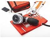 ADC Pro's Combo I Adult Palm Aneroid/Scope Kit with Prosphyg 788 Blood Pressure Sphygmomanometer and Adscope 641 Sprague Stethoscope, Orange