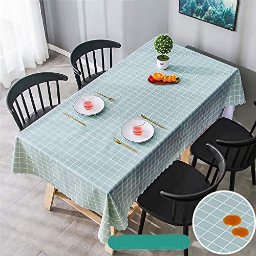 Mantel rectangular de pvc impermeable a prueba de aceite de poliéster suave cubierta protectora de mesa de picnic estera cena decoración de cocina JFCUICAN (color: 020, especificación: 120 x 120 cm)