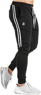 [Manatsulife] アクティブロングパンツ メンズ トレーニングパンツ ジム ジョガーパンツ スウェットパンツ 2本ライン K-06