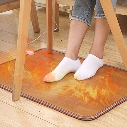 Heizteppich, Beheizbare Fußboden-Matte, rutschfest Thermisches Heizmatte, energiesparend, 3 Temperaturstufen Beheizbare Fußmatte Bodenmatte für Boden Füße, 30 x 50 cm, 50 W